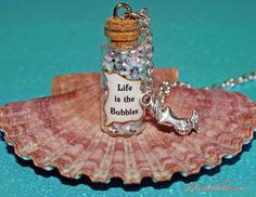 Life is the Bubbles Magical Necklace with a Mermaid Charm The Little Mermaid Disney on Etsy, $16.00