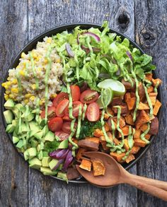 Taco Bowl with Avocado Lime Dressing | Healthy Ideas for Kids