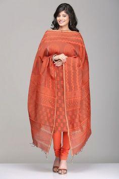 Dabu Print Maheshwari Unstitched Suits   IndiaInMyBag.com