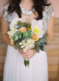 rustic ,  rose ,  succulents ,  bouquets ,  green ,  yellow ,  light green ,  light pink ,  peach ,- mid summer night dream?