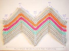Chevron crochet pattern   Bella Coco