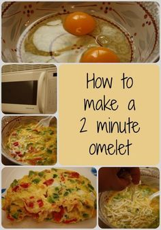 Easy omelets in the microwave. Perfect for busy school mornings. Mug Recipes, Brunch Recipes, Breakfast Recipes, Cooking Recipes, Healthy Recipes, Healthy Breakfasts, Healthy Lunches, Recipes Dinner, Potato Recipes