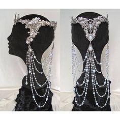 Elven Fairy Wedding Crown Circlet Diadem Tiara Arwen Galadriel White Opal Butterfly Medieval Renaissance Jewel Elf Headdress - Made to Order
