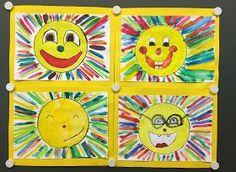 Lachende Sonnen Passend zum Wetter hier im wunderschönen Spanien,möchte ich euch heute unser zweitletztes ;) Mini-Kunstprojektzeigen. E...