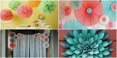 Decoração com Papel para Dia das Crianças | Como fazer em casa Paper Decorations, Birthday Party Decorations, Cute Small Drawings, Paper Flowers, Halloween, Handmade Gifts, Crafts, Diy, Flower Decoration