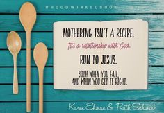 Love a good recipe? Isn't it comforting to know Jesus is our #1 never-run-out-of ingredient! #Hoodwinkedbook by Karen Ehman & Ruth Schwenk