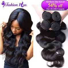 Unprocessed 7A Brazilian Virgin Hair Body Wave 4pcs Brazilian Hair Bundles Human Hair Weave Brazilian Body Wave Hair Extension US $36.37