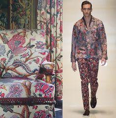 interiors pattern pairs gucci 1 Pattern Pairs | Botanical Prints