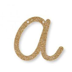 Letra Glitter A
