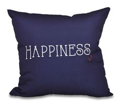 A Way with Words Coastal Happiness Throw Pillow