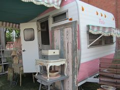I want to own a cute vintage trailer in pink to travel in and sell my crafts.....I NOW OWN MY LITTLE VINTAGE TRAILER!!!!