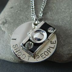 I Shoot People Camera Necklace by WireNWhimsy on Etsy.