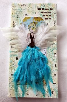 so pretty with the feathers, Julie Nutting Prima doll...