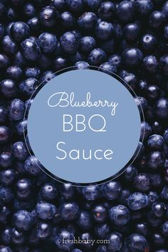 Grilled chicken with blueberry BBQ sauce.
