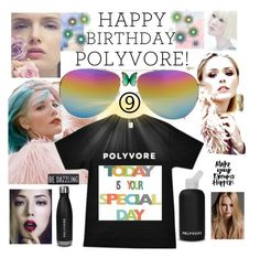 """HAPPY BIRTHDAY POLYVORE"" by lovesparisstudio ❤ liked on Polyvore featuring art and happybirthdaypolyvore"