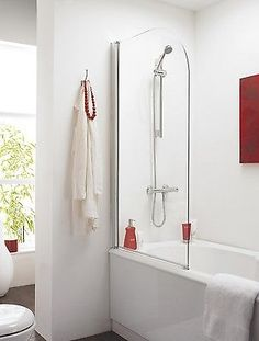 Veebath jade straight curved #glass overbath #shower bath #screen #shower #screen,  View more on the LINK: http://www.zeppy.io/product/gb/2/361455900360/
