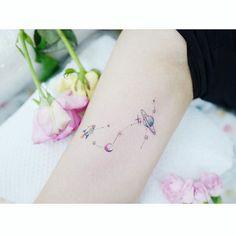 : constellations . . #tattooistbanul #tattoo #tattooing #constellationtattoo #minitattoo #colortattoo #constellation #타투이스트바늘 #타투 #별자리 #별자리타투 #컬러타투