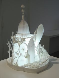 Glowing paper art. #art #paper #light #sculpture