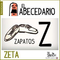 Letra Z (zeta). Aprender el abecedario español, alfabeto. ** Letter Z (zeta). Learning the Spanish alphabet, alphabet.