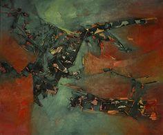 """El transfigurador""  - Heriberto Zorrilla - Óleo sobre tela 100 x 120 cm - 2005 www.esencialismo.com"