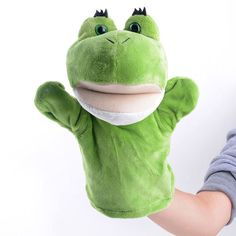 """Approx. Size: - 7.8"""" (20cm) Color: Multi Color. Material: Plush, PP Cotton Filling. Gender: Unisex. Suggest Age: 3 years old and up. Contains: Frog Hand Puppet x1. Style: Frog Puppet Toy. Type: Cute /"""