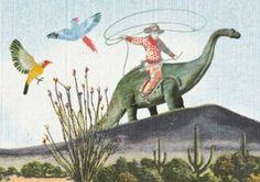 Grootzus  `Kaart Cowboy Dino`