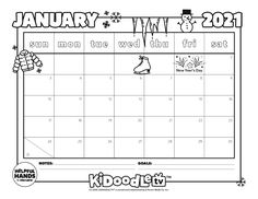 Start off the year right with this customizable January Calendar printable! January Calendar, Calendar Printable, Activity Sheets, Fun Activities, Periodic Table, Printables, Tv, Periodic Table Chart, Periotic Table