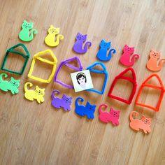 Renkleri Eşleştirme / İçinde Dışında Kavramı Öğrenme 20 ay ile 36 ay arası çocutklar için uygundur