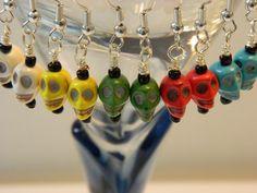 Halloween Skull Earrings. by HoustonsDesigns on Etsy, $8.00