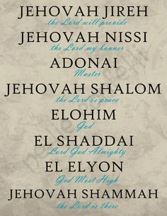 Names of God! Our Savior and Deliverer in Christ Jesus! Prayer Scriptures, Bible Verses Quotes, Faith Quotes, Healing Scriptures, Names Of God, Bible Knowledge, Gods Grace, Spiritual Quotes, Trust God