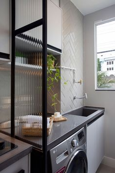 an efficient and attractive laundry room « lancarbisnis. Room Design, House Interior, Kitchen Furniture Design, Small Apartment Design, Bathroom Interior Design, Home, Laundry Room Decor, Room, Table Centerpieces For Home