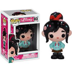 Wreck-It Ralph Vaneloppe Disney Pop! Vinyl Figure - NOT MINT This Wreck-It Ralph Vaneloppe Disney Pop! Vinyl Figure takes the glitchy racer from Disney Pixar's hit Wreck-It Ralph movie and gives her the Pop! Funk Pop, Disney Pop, Wreck It Ralph, Pop Vinyl Figures, Ralph Disney, Disney Animation Studios, Vanellope Y Ralph, Figurine Disney, Funko Pop Toys