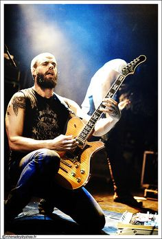John Baizley of Baroness (he also paints!).
