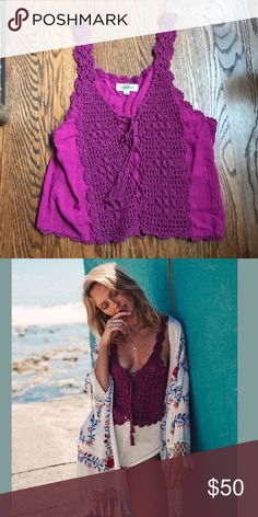 Selling this Arnhem Lace Crochet Tank Top on Poshmark! My username is: lbsky. #shopmycloset #poshmark #fashion #shopping #style #forsale #Spell & The Gypsy Collective #Tops