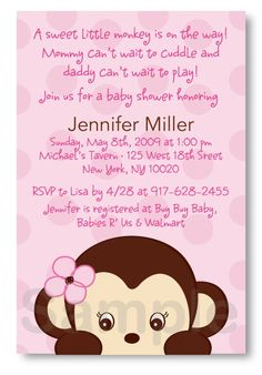 Monkey baby shower invitation template girl or boy pinterest monkey baby shower invitation template girl or boy pinterest monkey baby shower invitations and monkey filmwisefo