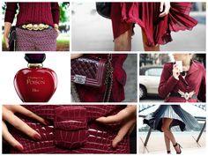 Burgundy Extravaganza: Fashion meets perfume. #lavish #perfume #fall #romantic #cherry www.scentbird.com