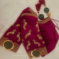 Cutwork Blouse Designs, Choli Blouse Design, Hand Work Blouse Design, Wedding Saree Blouse Designs, Pattu Saree Blouse Designs, Simple Blouse Designs, Blouse Patterns, Maggam Work Designs, Designer Party Wear Dresses