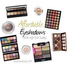 Affordable Eyeshadows