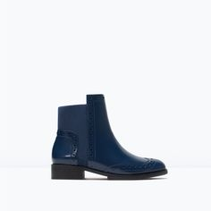 Navy Love ZARA - COLLECTION SS15 - PERFORATED BOOTIES