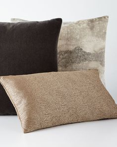 Mist Ivory Pillow and Dunaway Umber Pillow Cheap Throw Pillows, Decorative Throw Pillows, Eastern Accents, Condo Decorating, Pillow Sale, Taupe Color, Handmade Home Decor, Earth Tones, Great Rooms