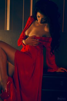 Night in the hotel Sexy Dresses, Formal Dresses, Color Splash, Sexy Women, Beautiful Women, Feminine, Model, Red, Concept