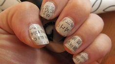 Newspaper Print Nails with a difference!