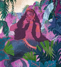in Philippine folklore, Oryol was a beautiful naga with a hypnotic voice. She was the one who commanded vicious mermaids called the Magindara. She was also said to protect the land of Ibalong where monsters and beasts lived peacefully. Philippine Mythology, Philippine Art, Enchanted Tree, Filipino Art, Philippines Culture, Time Painting, Land Art, Gods And Goddesses, Character Art