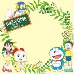 Wedding Card Doraemon Cartoon, Doraemon Wallpapers, Welcome To Our Wedding, Anime Fnaf, Blue Cats, Sanrio, Wedding Cards, Kitty, Templates