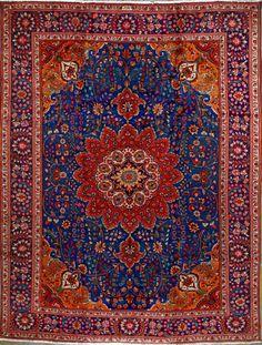"Buy Tabriz Persian Rug 9' 10"" x 12' 8"", Authentic Tabriz Handmade Rug"