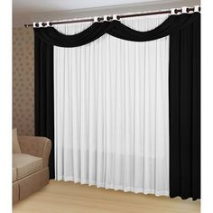 oi gente o post Luxury Curtains, Elegant Curtains, Modern Curtains, Red Curtains Living Room, Home Curtains, Window Curtain Designs, Rideaux Design, Living Room Modern, Cheap Home Decor