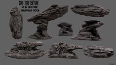 rock set 3d model obj fbx blend 1