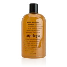 Royal Spa® Imperial Blend Bath & Shower Gel is a ultra-regal body treatment that cleanses and moisturizes without the drying effects of soap
