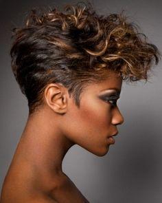 Short Black Curly Haircut 2014