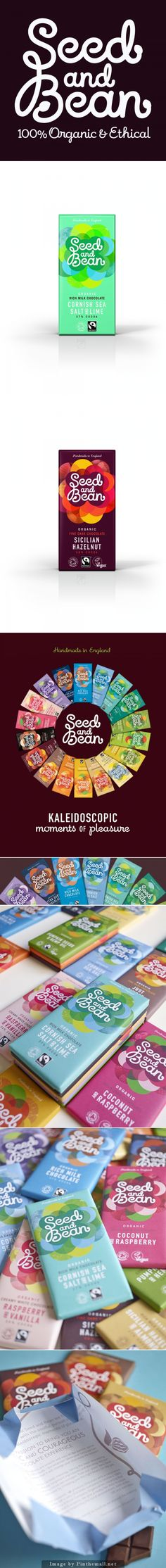 Seed and Bean Kaleidoscope of #chocolate #packaging PD